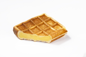 Mini Waffle with Custard Cream