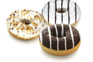 Mixed Filled Donuts (Chocolate, Nougat, Vanilla) (indent)