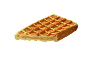 Fruit Waffle with Apple (indent)